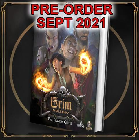 GRIM HOLLOW THE PLAYER'S GUIDE HARDCOVER BOOK