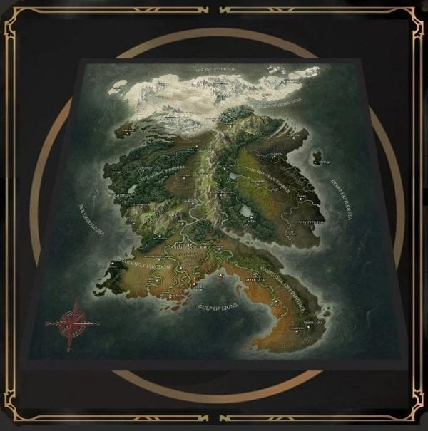 Grim Hollow Fabric Map Of Etharis featured