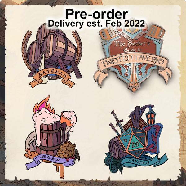 Twisted Taverns: Enamel Pin Set