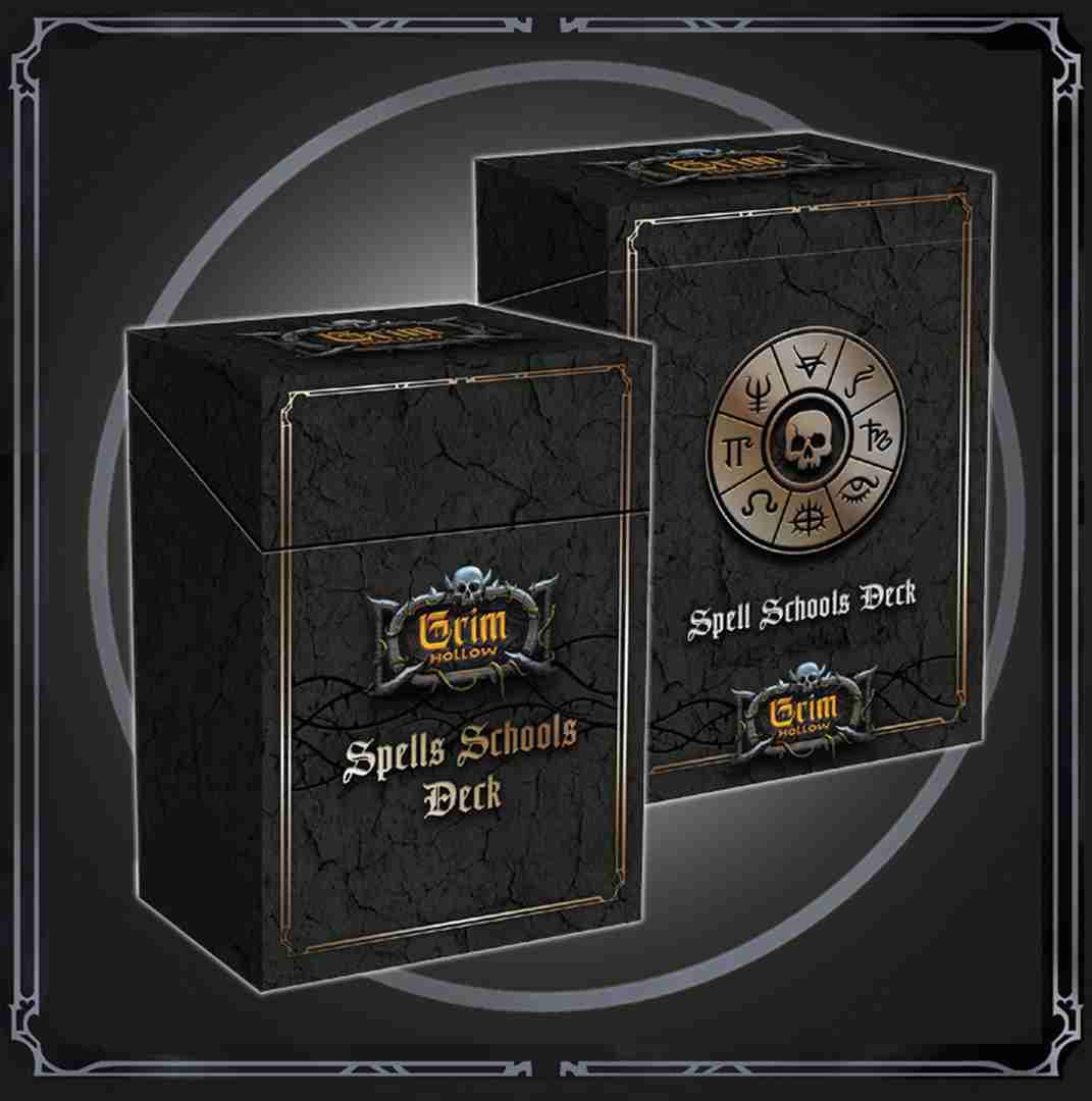 Grim Hollow: Spell & Magic Item Cards