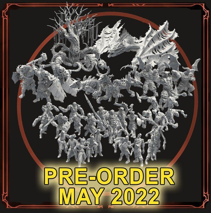 Grim Hollow: All Monster Miniature Sets (x10 Boxes)