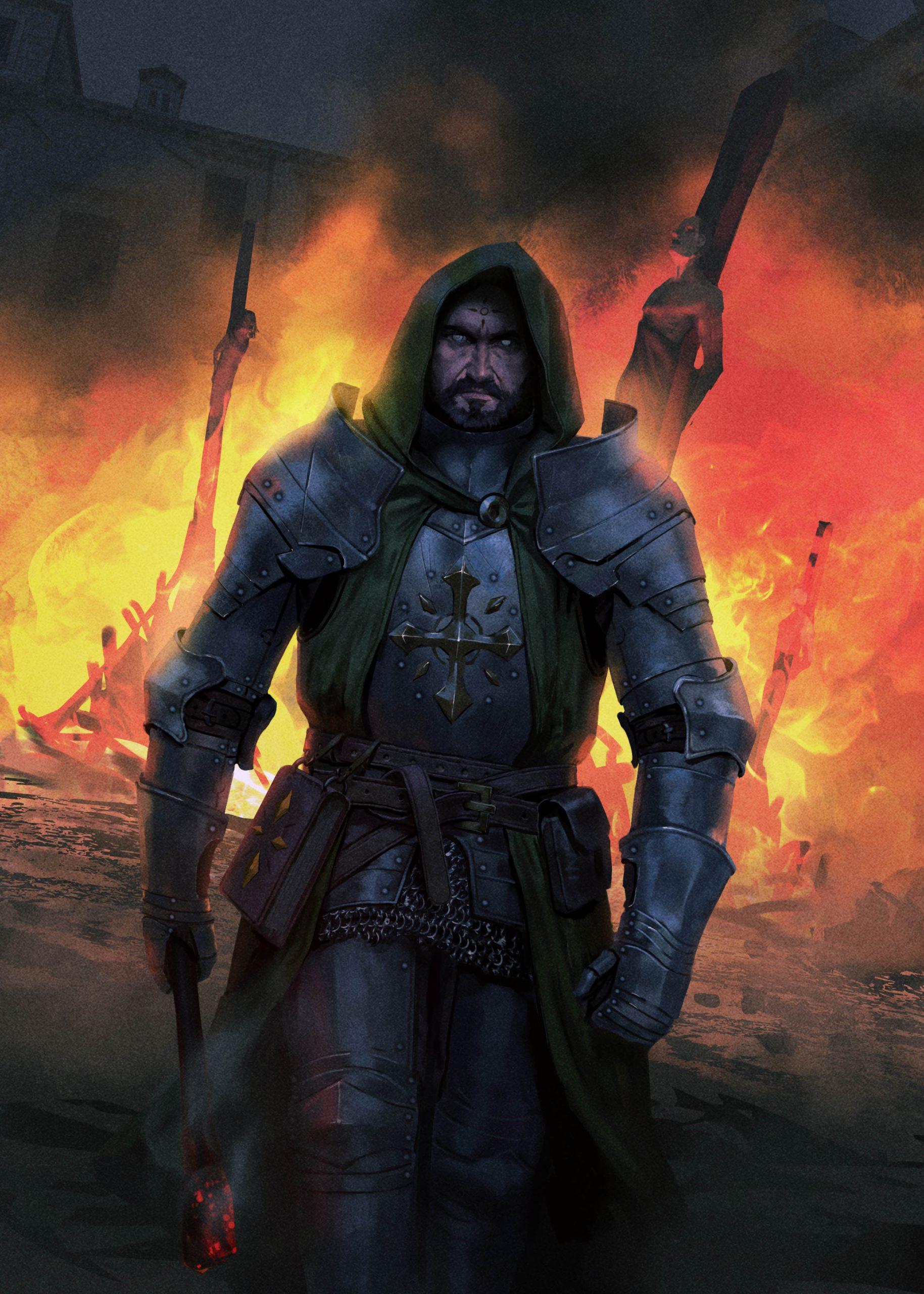 Evil Cleric Burning Heretics