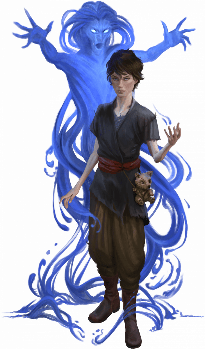 Sorcerer summoning a spirit