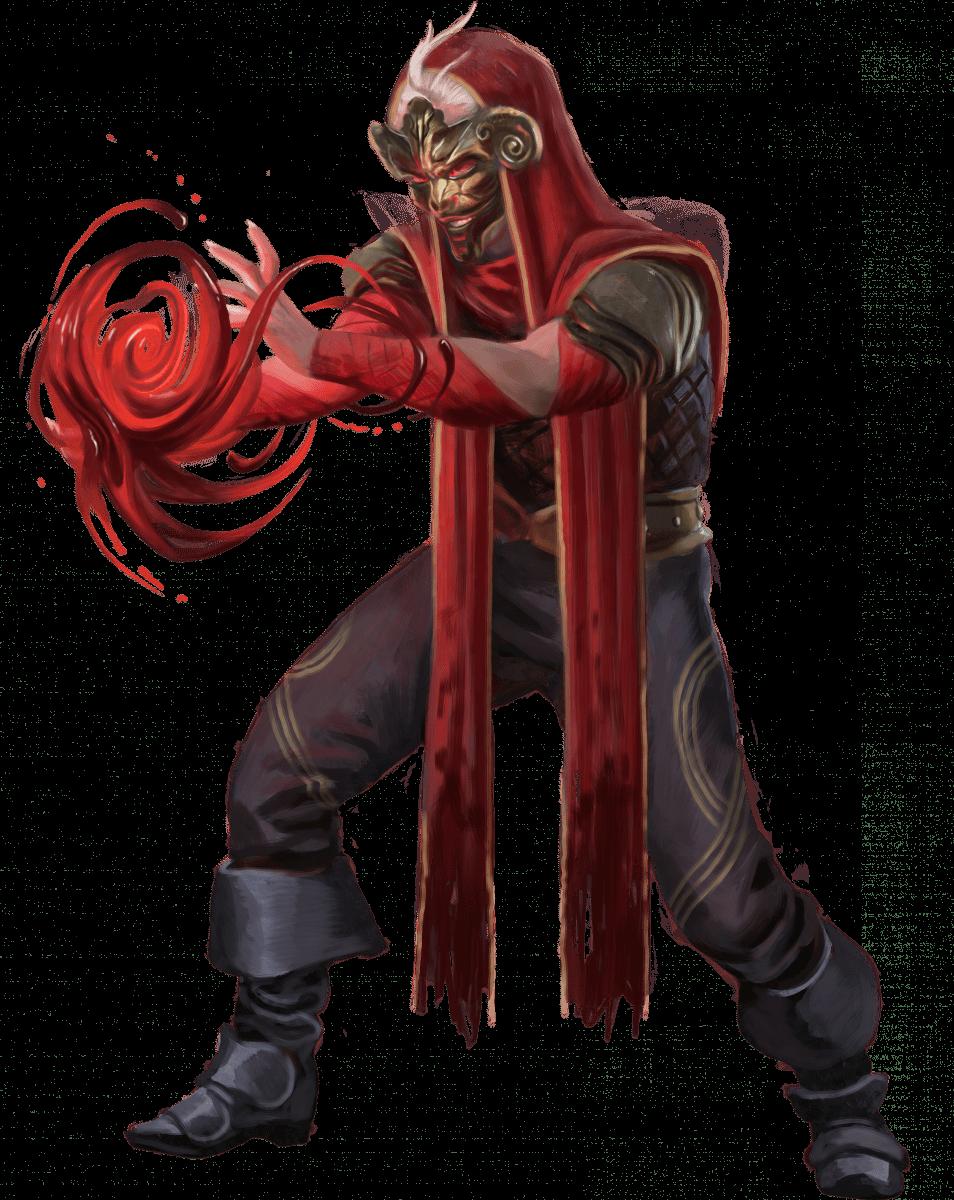 Wizard casting blood magic