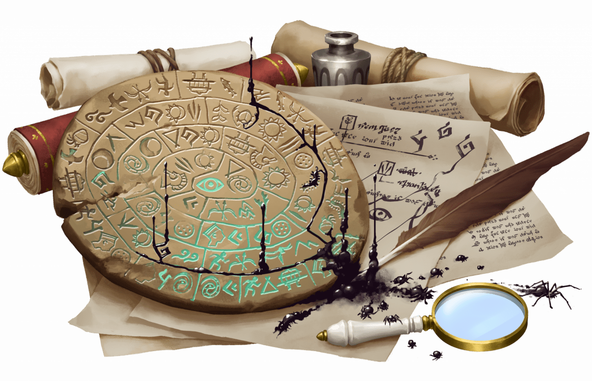Idmon's scrolls and notes