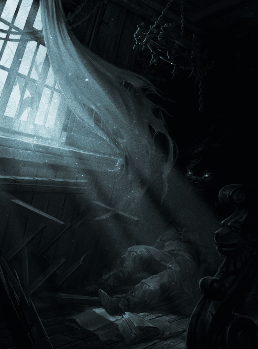 Idmon lurks in shadows eating victim