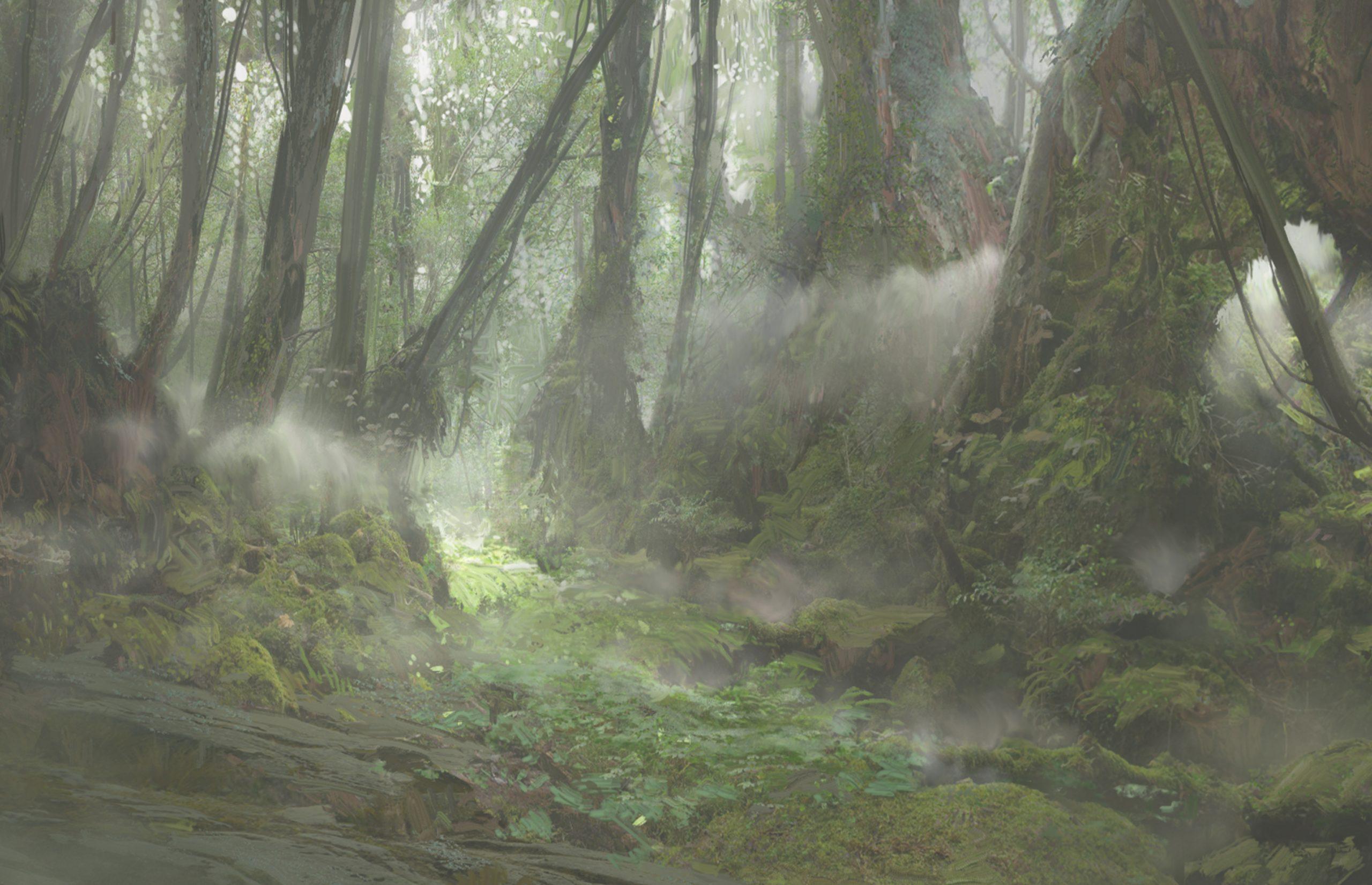 Deep forest where Idmon keeps his lair