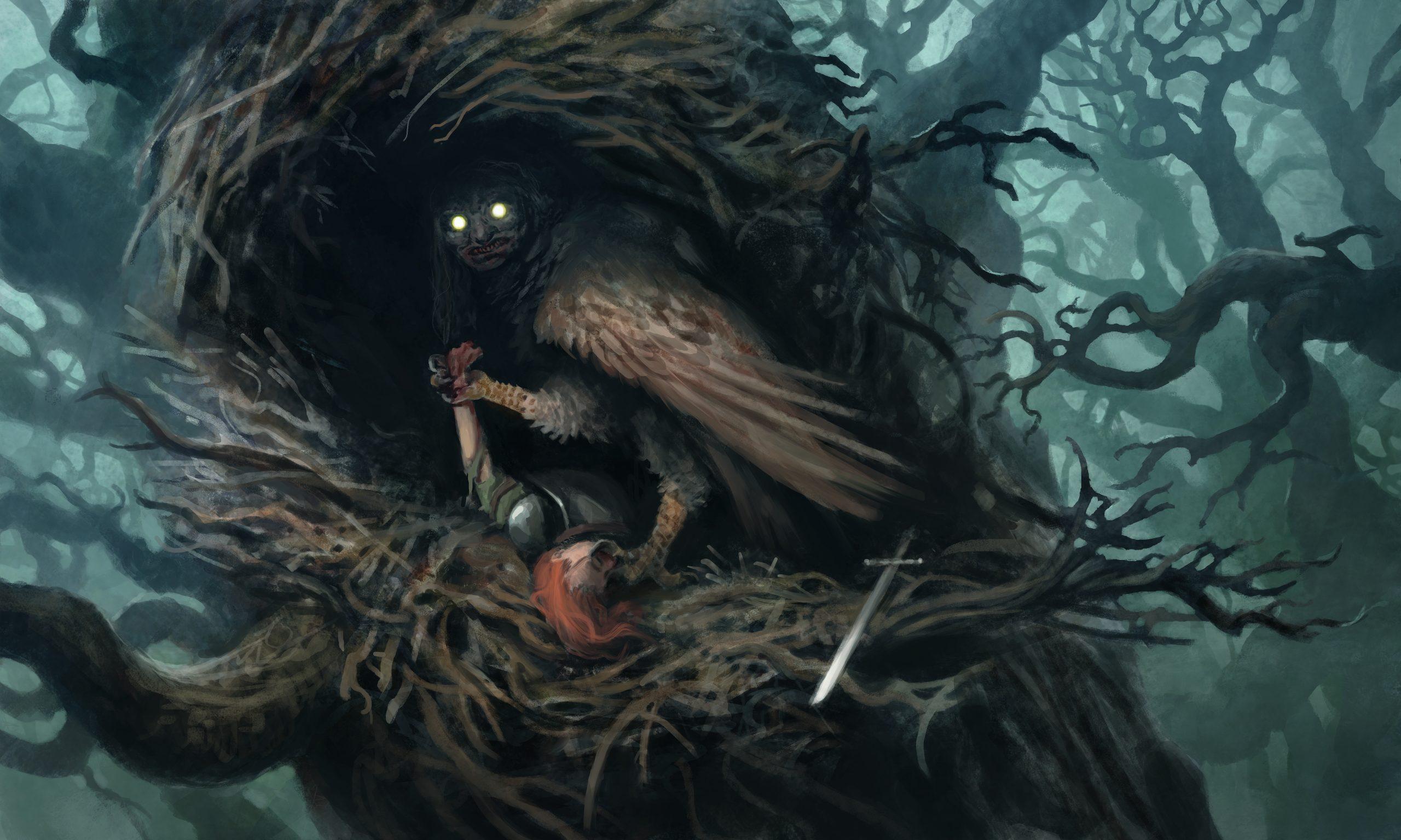An Owl with a human face
