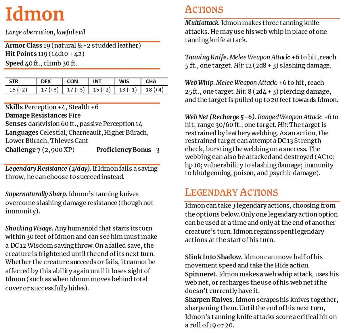 Idmon Monster Rules
